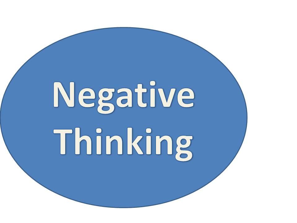 Negative thinking depression